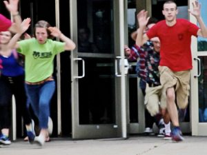 active shooter training for schools, example for a lockdown drill exercise