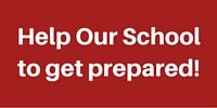 red box with lettering help our school to get prepared, active shooter training for schools program